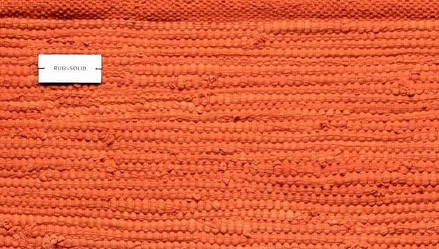 Dywan Rug Solid Cotton Rug Solar Orange