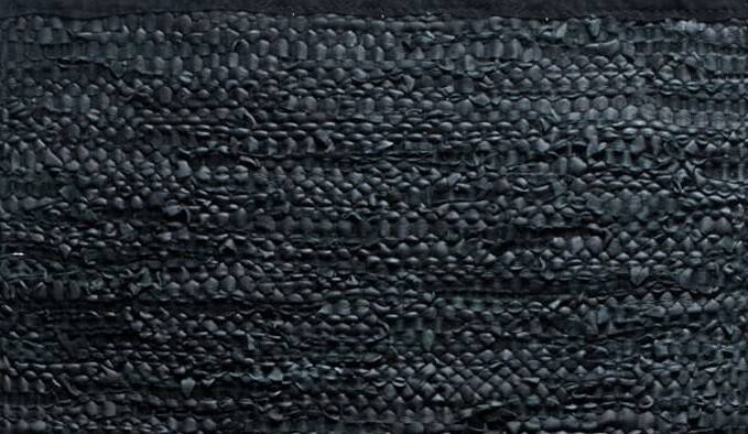 Dywan Rug Solid Leather Black